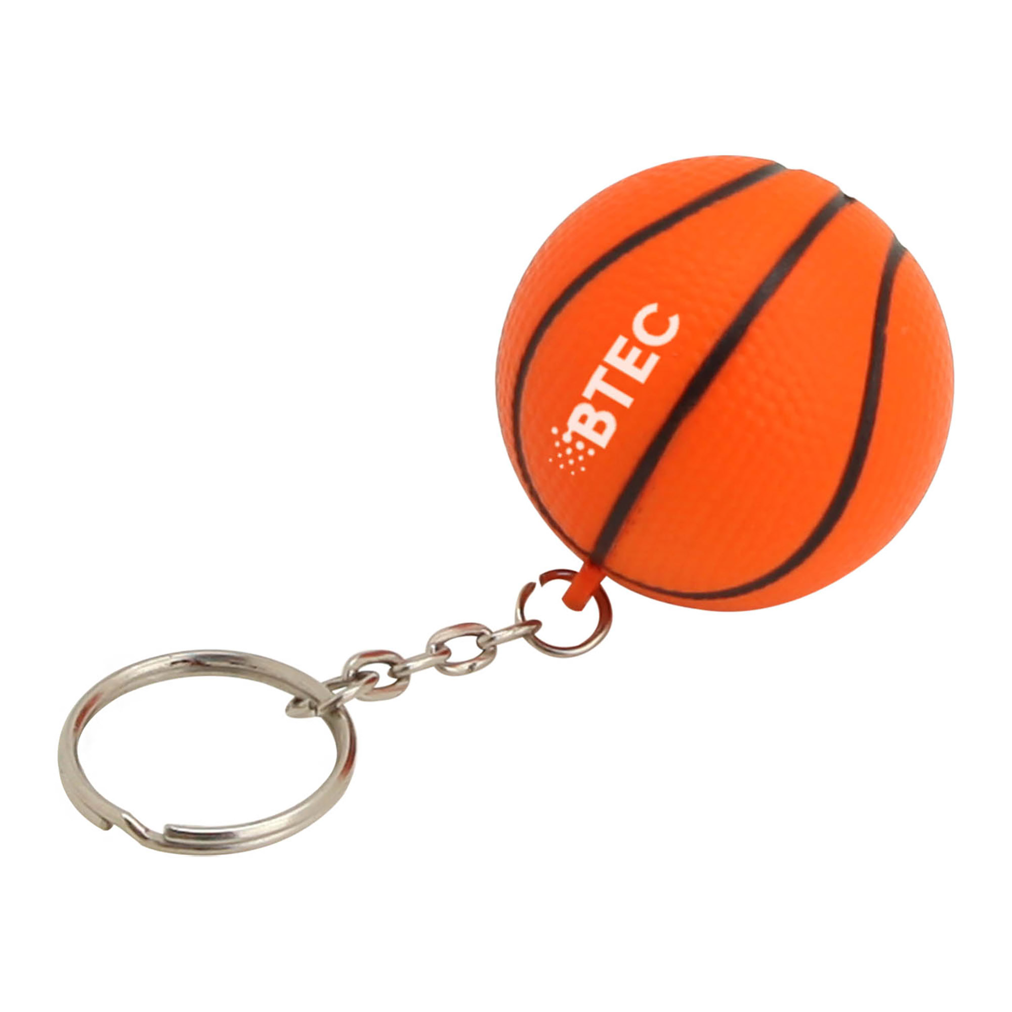 STRESS BASKETBALL KEYRING - 1 Colour Print, From $0.59