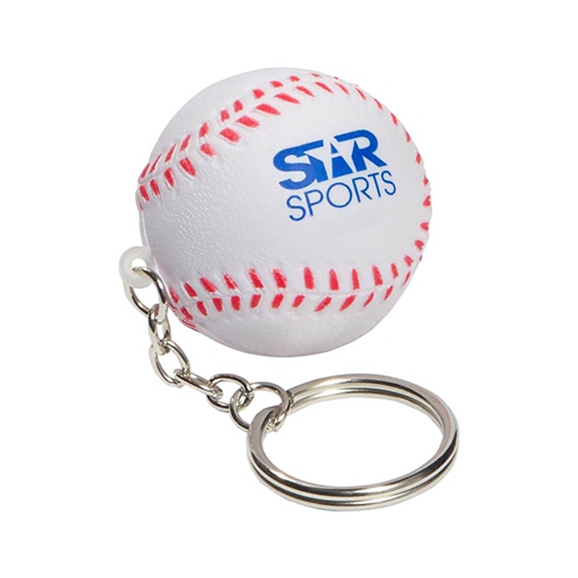 STRESS BASEBALL KEYRING - 1 Colour Print, From $0.57