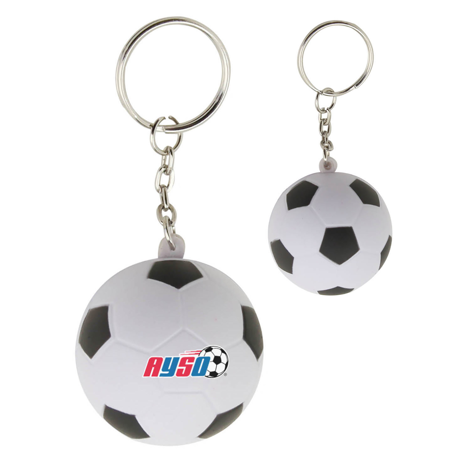 STRESS SOCCERBALL KEYRING - 1 Colour Print, From $0.57