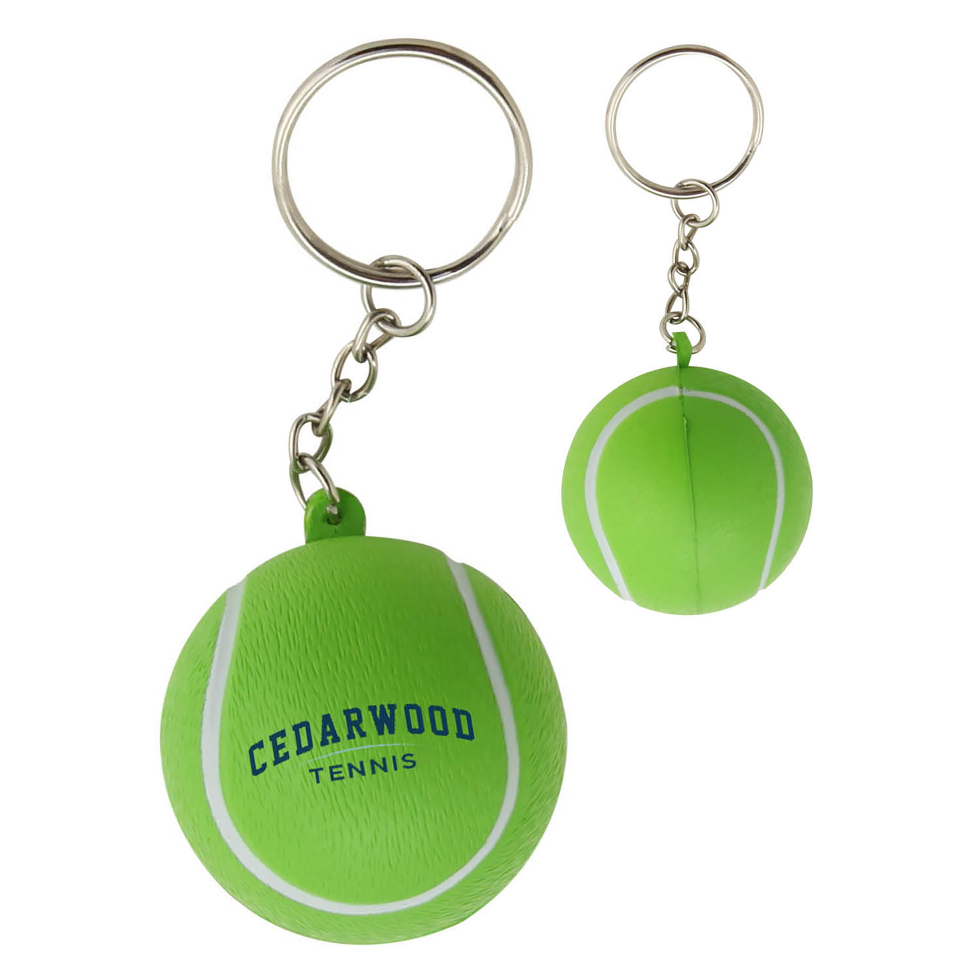 STRESS TENNIS BALL KEYRING - 1 Colour Print