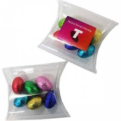 Pillow Pack with Mini Solid Easter Eggs x6 - Full Colour Label