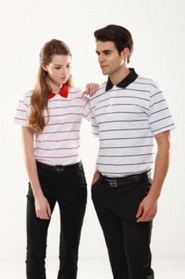 Ladies,      Stripes/100% Polyester Cool Dry