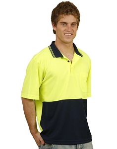 Hi-Vis truedry safety polo S/S, From $13.1
