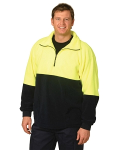 Hi-Vis polar fleece half zip pullover, From $20.9