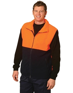 Hi-Vis two tone polar fleecy vest, From $17.0