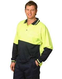 Hi-Vis truedry safety polo L/S, From $14.4
