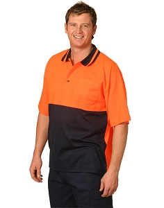 Hi-Vis truedry safety polo S/S, From $13.8