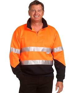 Hi-Vis L/S Fleecy Collar Sweater 3M Tapes, From $30.0