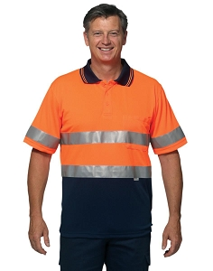 Hi-Vis S/S Safety Polo 3M Tapes, From $19.6