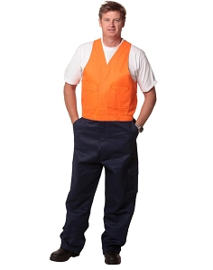 Hi-His Two Tone Men's Cotton Drill Action Back Overall-Regular, From $38.5