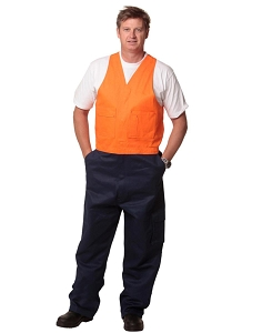 Hi-His Two Tone Men's Cotton Drill Action Back Overall-Stout, From $38.5