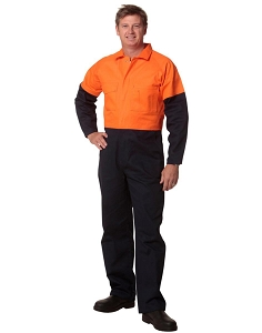 Hi-Vis Two Tone Men's Cotton Drill Coverall-Stout, From $46.3