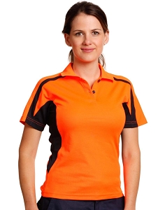 ladies truedry S/S safety polo, From $12.5