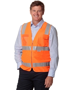 Hi-Vis Safety Vest with ID Pocket & R/F Tapes, From $12.5