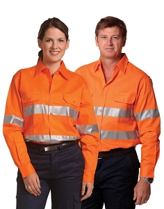 Men's Hi-Vis L/S Drill Shirt With 3M Tapes, From $33.9