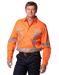 Men's Hi-Vis L/S Drill Shirt With 3M Tapes, From $35.2