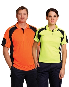 Men's Hi-Vis Cooldry Contrast Polo with Sleeve Panels, From $14.4