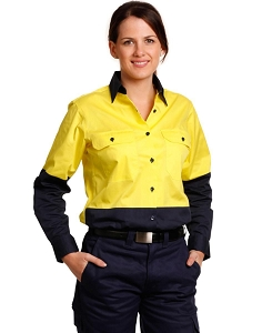 Ladies' Hi-Vis L/S Safety Shirt