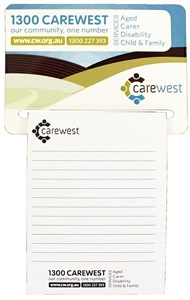 Rectangular Magnet 95 x 70 mm, Notepad (black)70 x 95 mm - Includes a full colour print, From $1.33