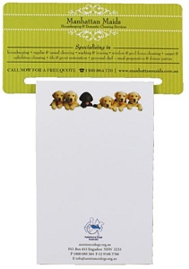 Rectangular Magnet 70 x 140 mm, Notepad (black)95 x 140 mm - Includes a full colour print, From $1.83