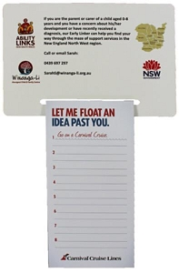 Rectangular Magnet 95 x 140 mm, Notepad (black)70 x 140 mm - Includes a full colour print, From $1.96