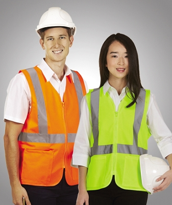 Hi Vis D/N Vest with Zip and Pockets