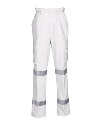 Night Use White CottonCargo Trousers