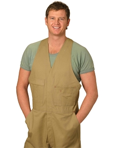 Men's Cotton Drill Action Back Overall-Regular, From $41.1