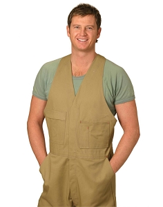 Men's Cotton Drill Action Back Overall-Stout, From $41.1