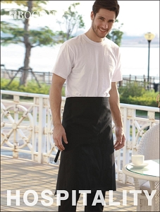 POLYESTER DRILL THREE QUARTER APRON -WITH POCKET
