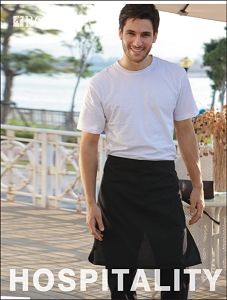 COTTON DRILL HALF APRON -NO POCKET, From 6.22