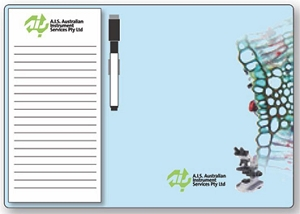 Whiteboard Magnets Combo 210 x 297 mm Notepad(Black) 95 x 200 mm - Includes a full colour print, From $3.78