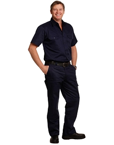 Men's Cotton Drill Pre-shrunk Cargo Pants With Knee Pads, From $30.0