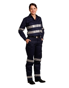 Ladies' Heavy Cotton Pre-Shrunk Drill Pant with 3M Tape, From $31.3
