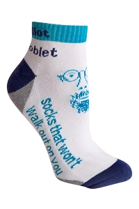 Anklet Sock - Includes custom woven logo, From $5.94