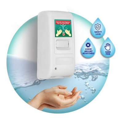Hand Sanitiser Infrared Touchless Auto Dispenser
