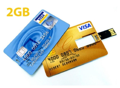 Credit Card USB Drive 2GB  - Includes full colour logo