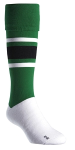 EUROPEAN STLYE Football Sock (WOVEN DESIGN)  - Includes custom woven logo