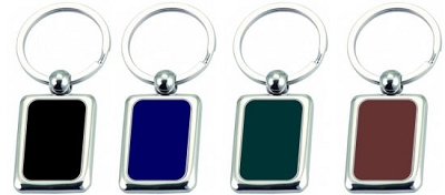 Rectangular Coloured Key ring -  Includes laser engraving logo , From $1.73