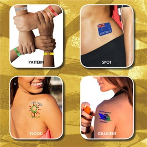 Prism Foil Temporary Tattoos 51x51mm - Includes full colour logo
