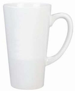 Tower Mug - White, Includes a 1 colour print on one side, From $2.93