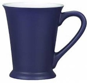 Valentia Mug - Cobalt Matte/White, Includes a 1 colour print on one side, From $4.1