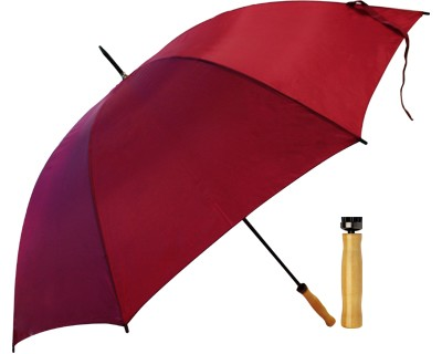 Budget Umbrella (All Burgundy) - Includes a full colour logo, From $9.88