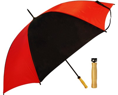 Budget Umbrella (Red-Black) - Includes a full colour logo, From $9.88
