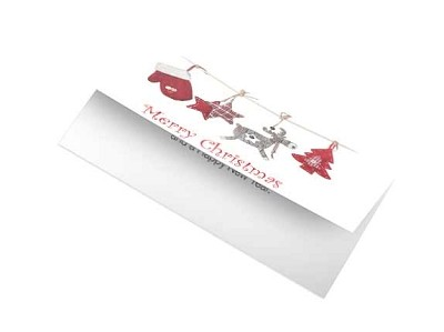 Xmas Card - Red Decorations