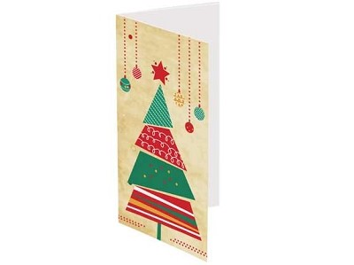 Xmas Card - Triangle Tree