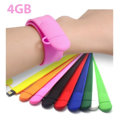 USB Slap WristBand Flash Drive 4GB, Enquire fo