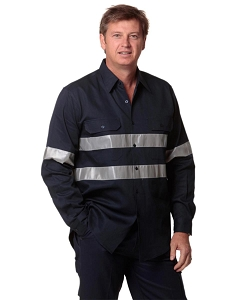 Cotton Drill L/S Work Shirt 3M Tapes, From $31.3