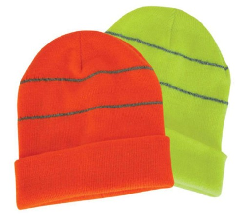 Beanie with reflective trims