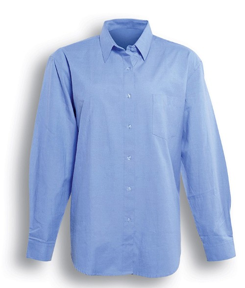 LADIES LONG SLEEVE CHAMBRAY SHIRT, From 15.71